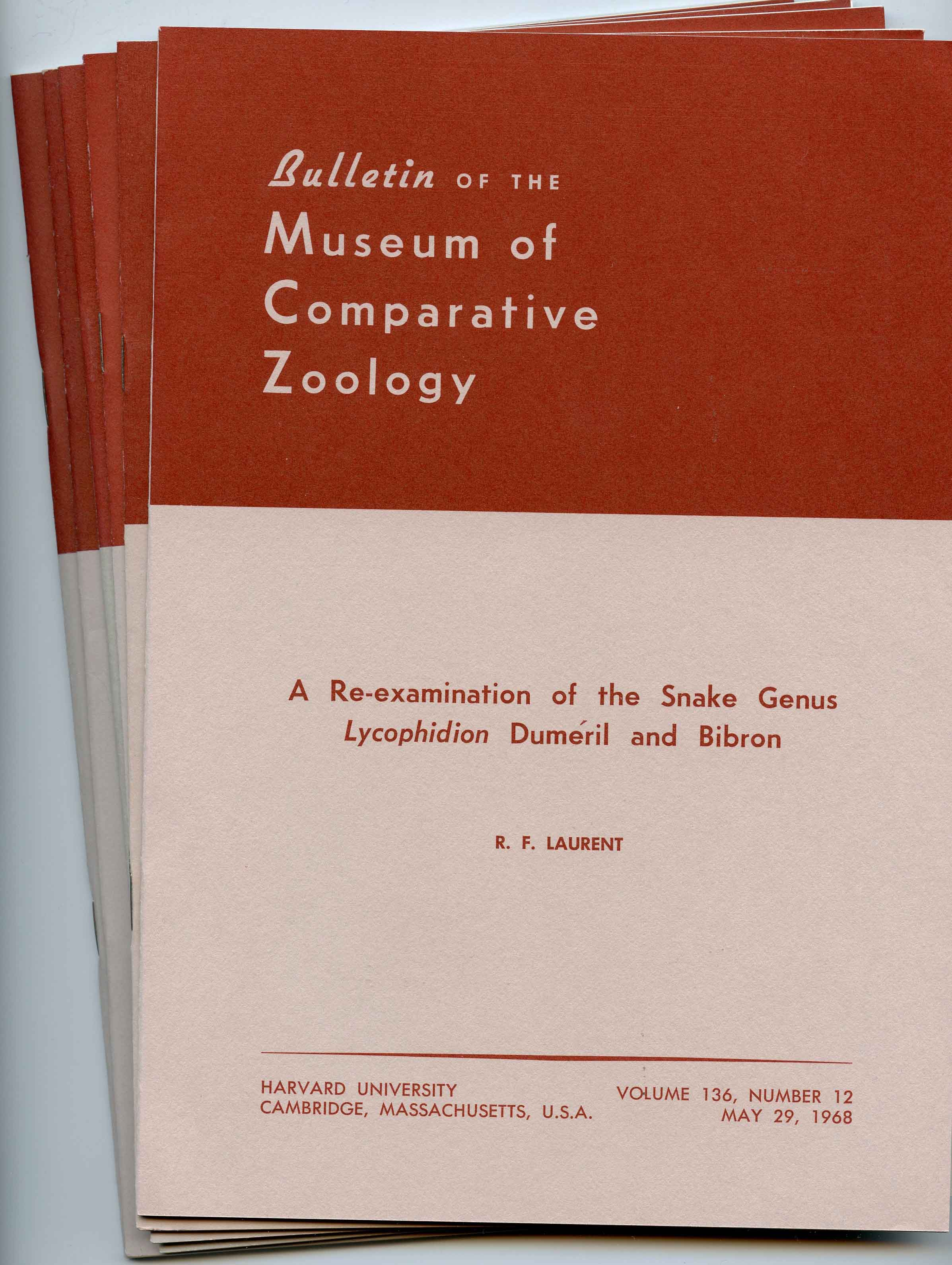 Image for Bundle # 2 (Bulletin of the Museum of Comparative Zoology),