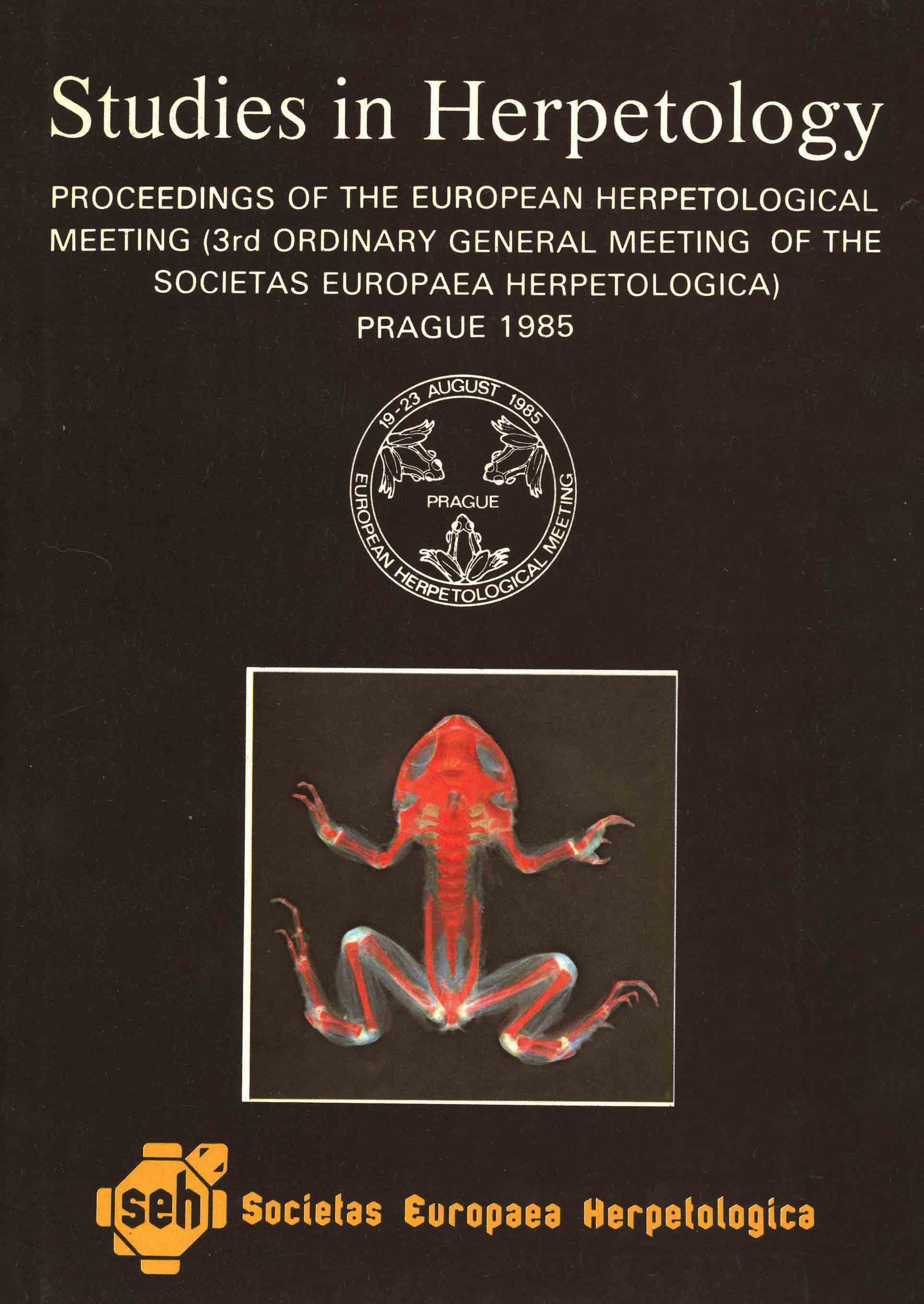 Image for Studies in Herpetology: Proceedings of the European Herpetological Meeting (3rd Ordinary General Meeting of the Societas Europaea Herpetologica) Prague 1985