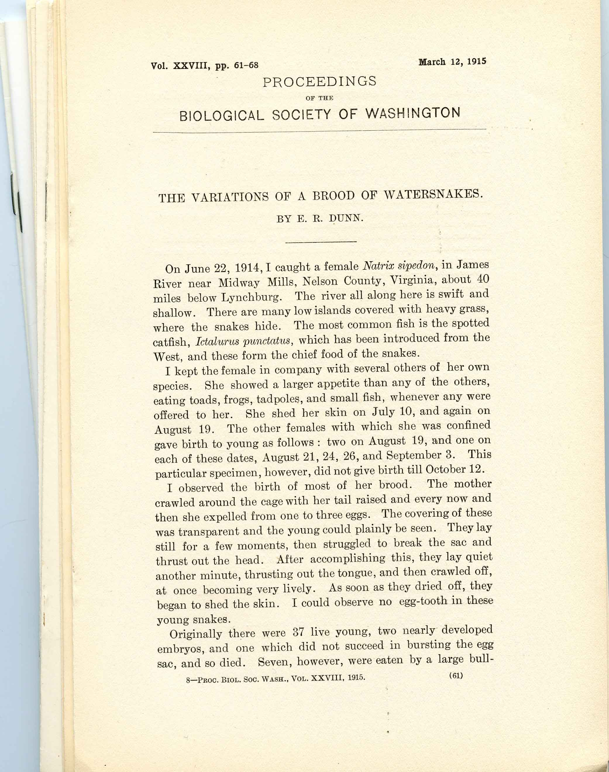 Image for Bundle #8 (Proceedings of the Biological Society of Washington),