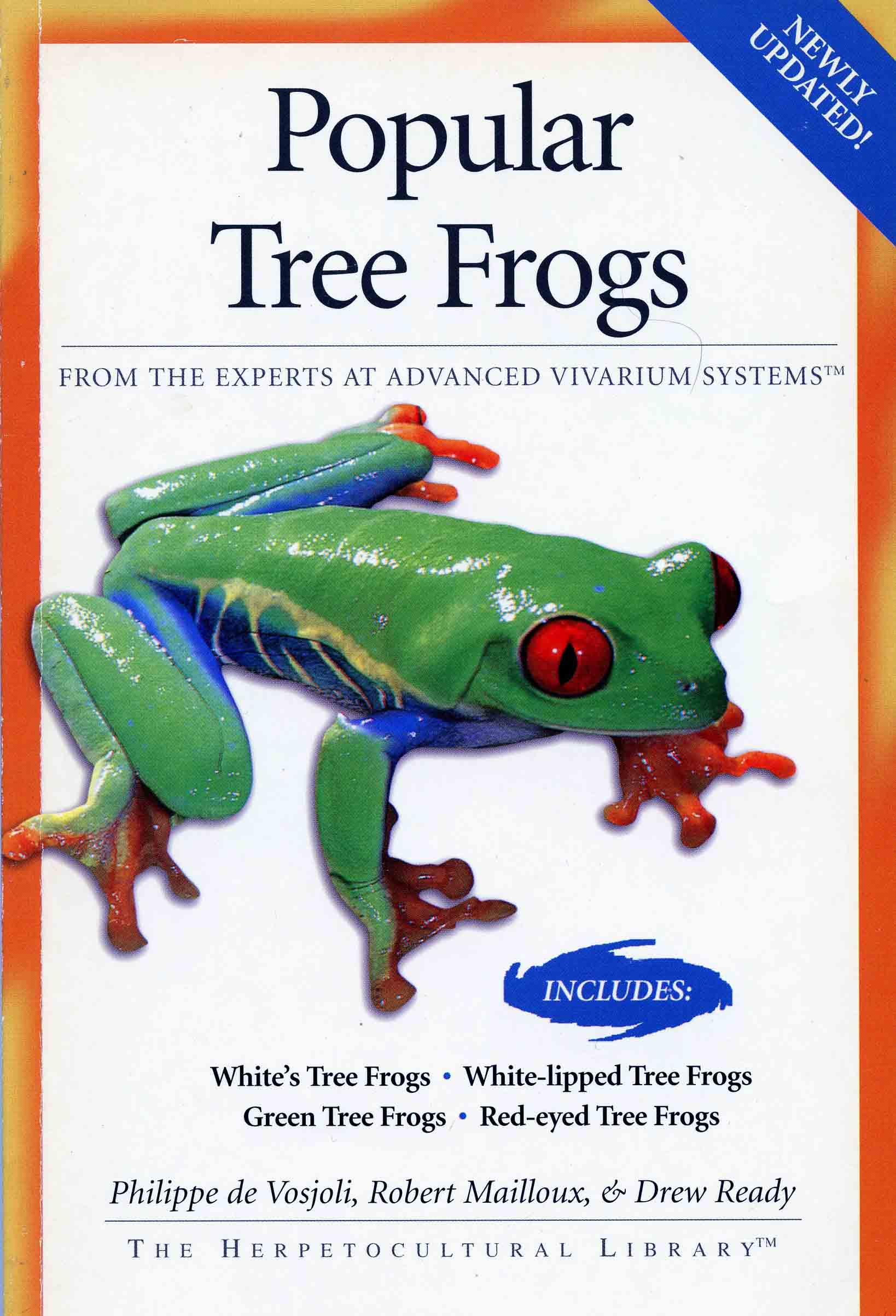 Image for Popular Tree Frogs: Includes White's Tree Frogs, Green Tree Frogs, White-lipped Tree Frogs, Red-eyed Tree Frogs,