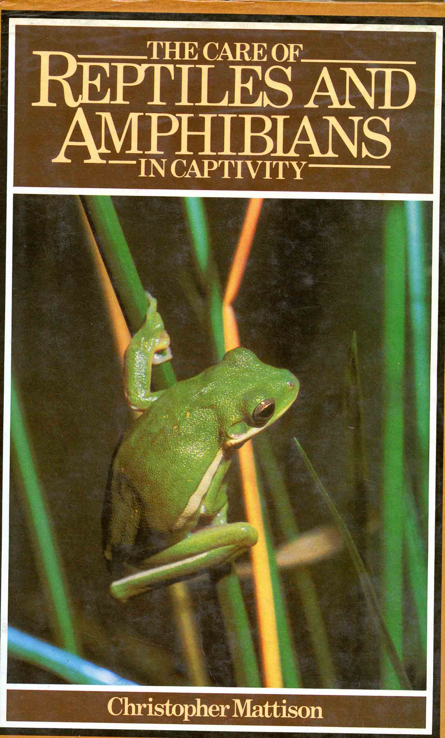 Image for The Care of Reptiles and Amphibians in Captivity,