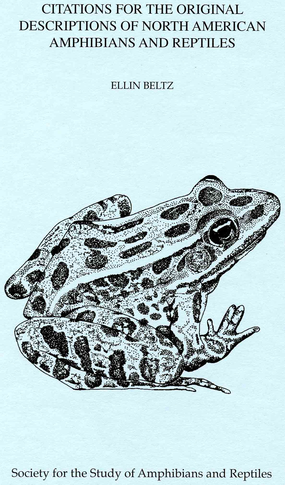 Image for Citations for the Original Descriptions of North American Amphibians and Reptiles
