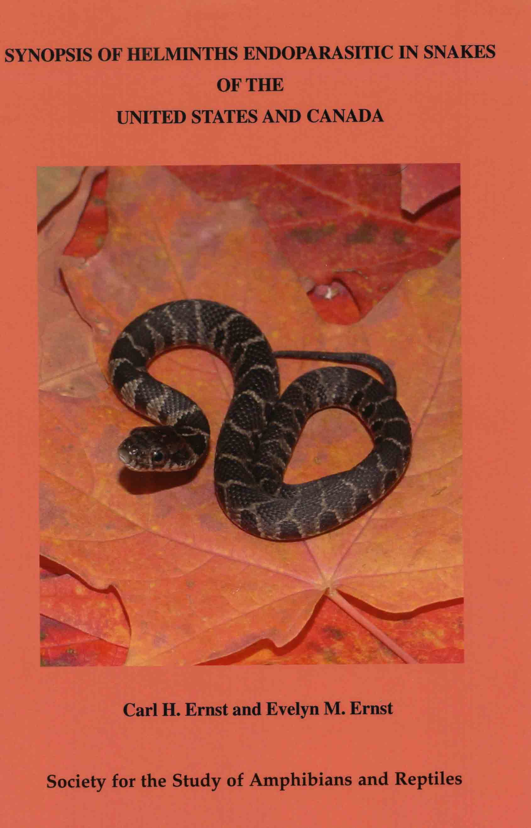 Image for Synopsis of Helminths Endoparasitic in Snakes of the United States and Canada,