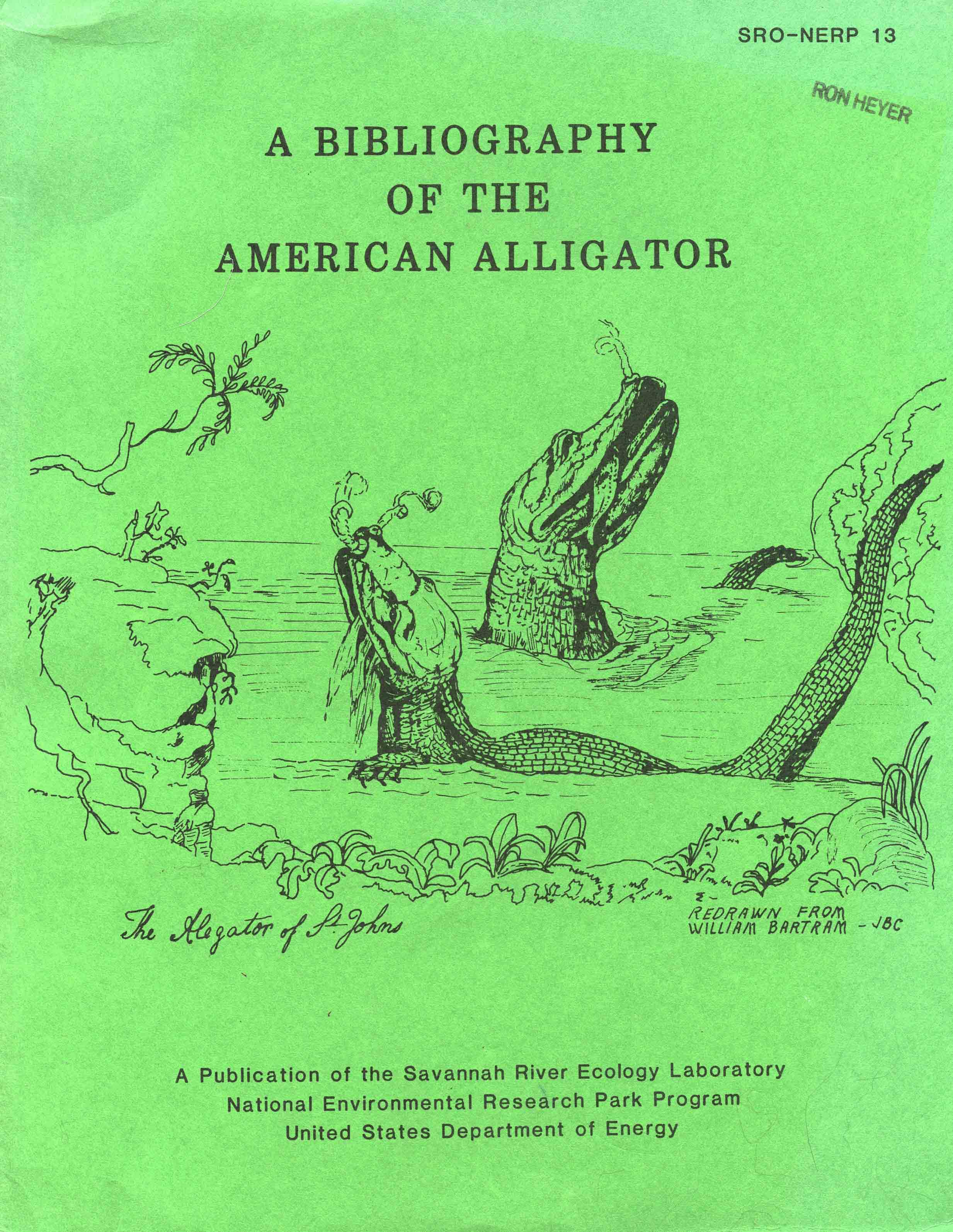 Image for A Bibliography of the American Alligator (Alligator mississippiensis)